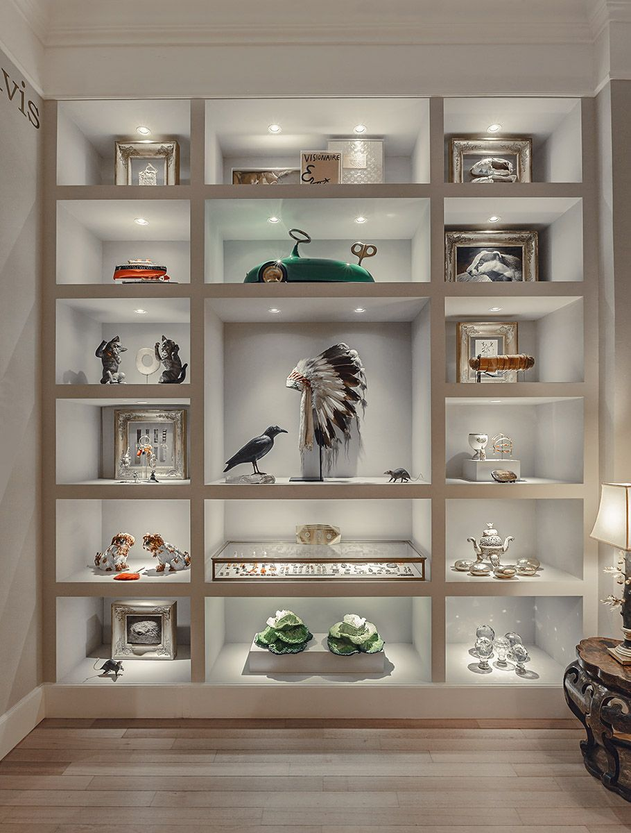 Wunderkammer On Behance Wall Display Case Home Office Design