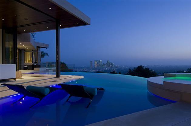 13 Million Modern Bachelor Pad Overlooking Los Angeles Skyline