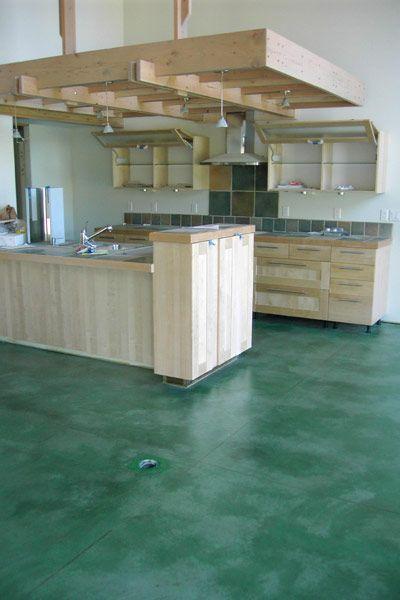 Kemiko Concrete Floor Stain Application Photo Concrete Floors Concrete Stained Floors Flooring