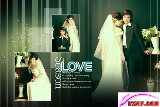love wedding album design material free wedding photo psd