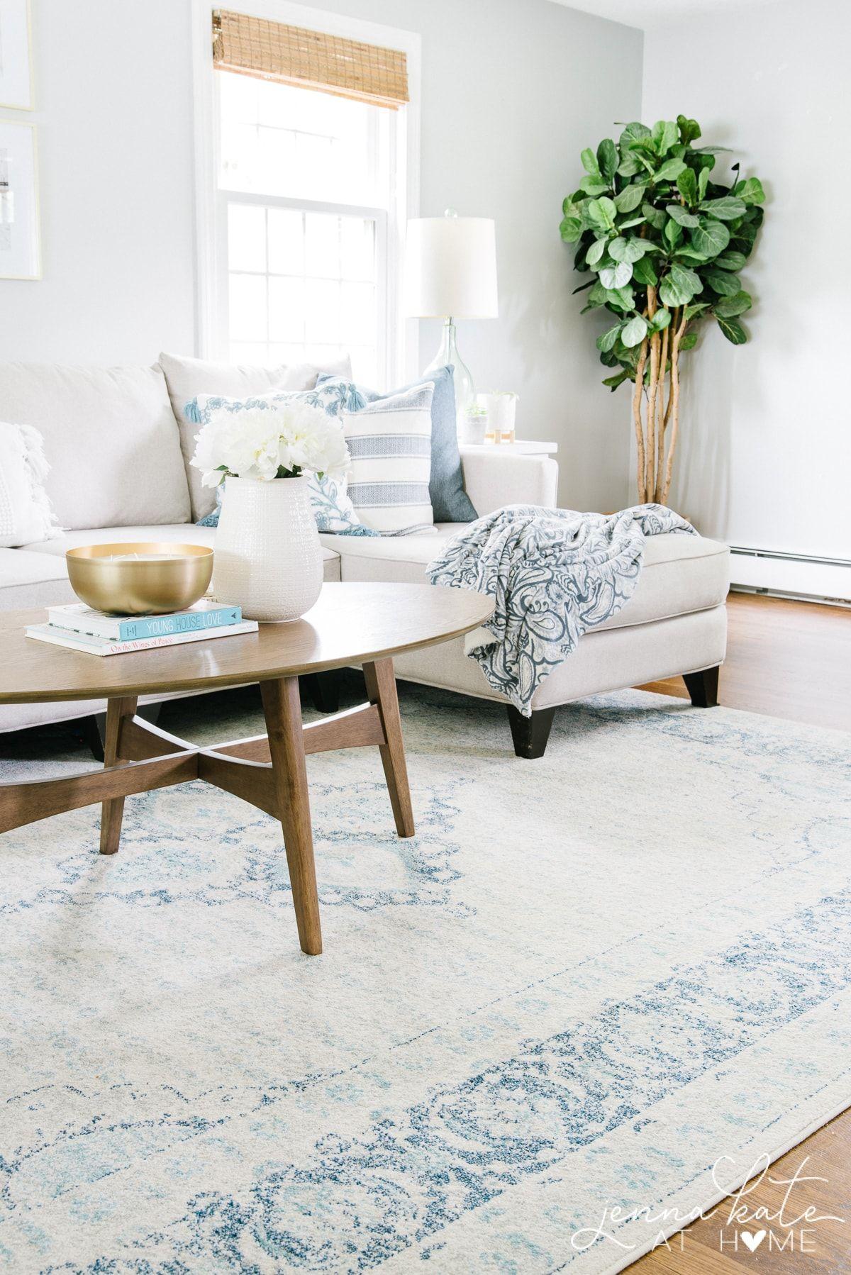 Light & Airy Summer Home Tour | Living room sofa design ...