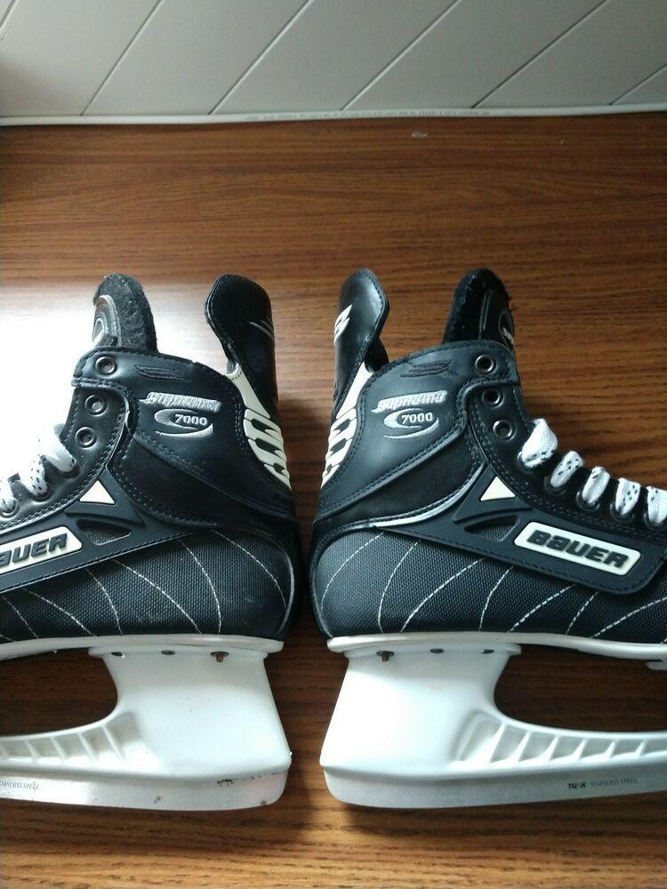 Ebay Sponsored Bauer Supreme 7000 Hockey Ice Skates Skates For Sale Ice Skating Hockey