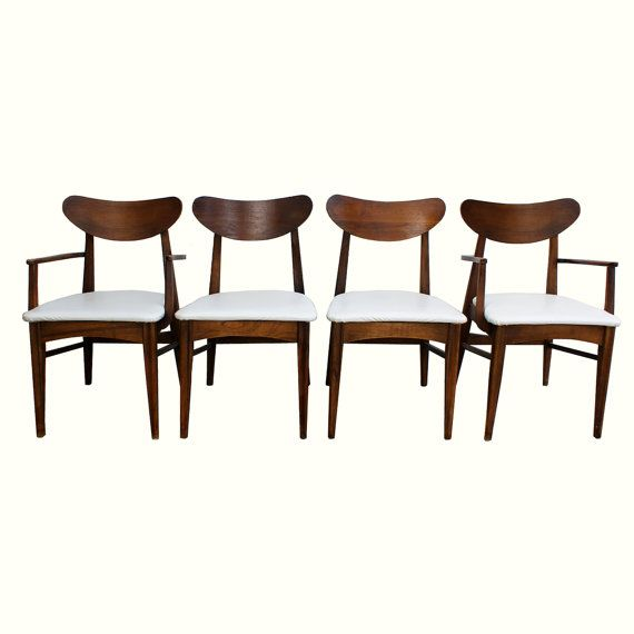 On Hold 1950s-60s Danish Modern Style Dining Chairs Set Of