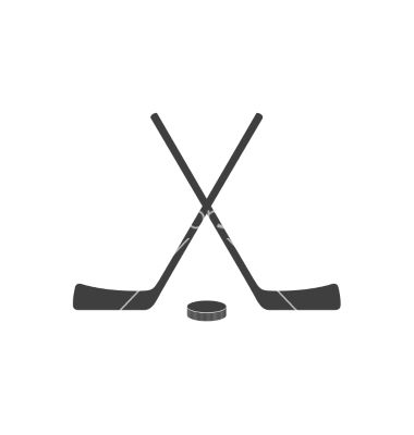 Hockey Sticks And Puck Grey Minimal Logo Design Vector Hockey Hockey Posters Hockey Logos