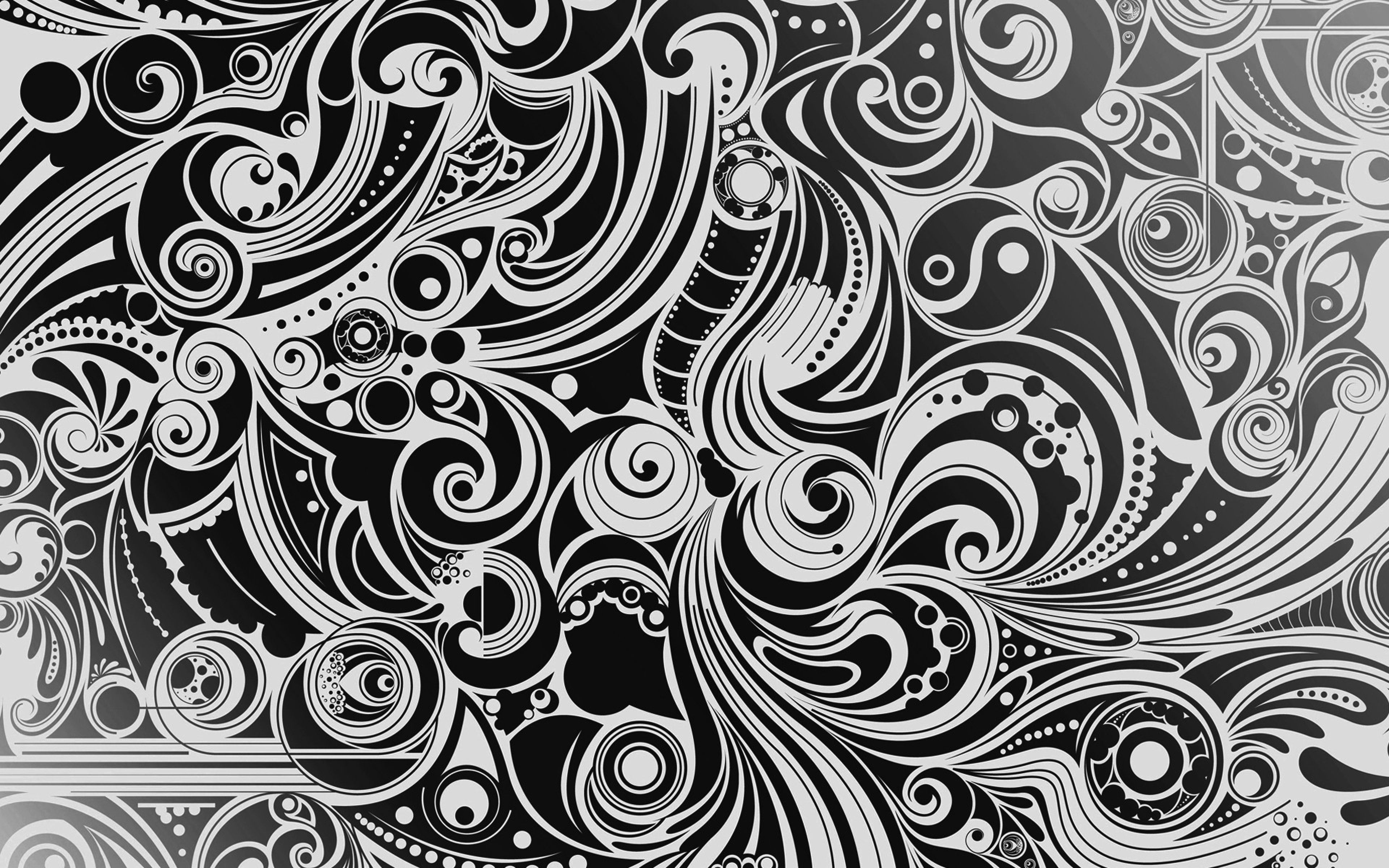3840x2400 Wallpaper black, white, pattern, shape, patterns