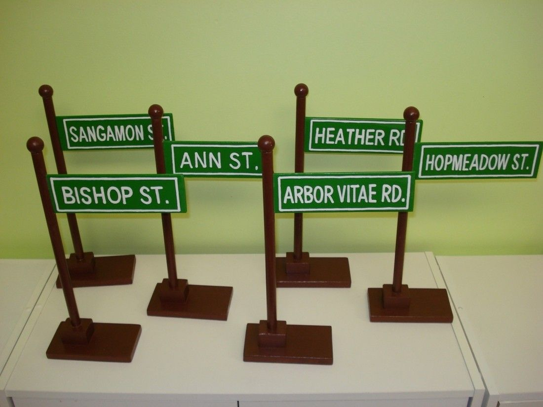 Unique Custom Wooden Hand Painted Table Top Street Sign Centerpiece Birthday Wedding Party Baby Shower