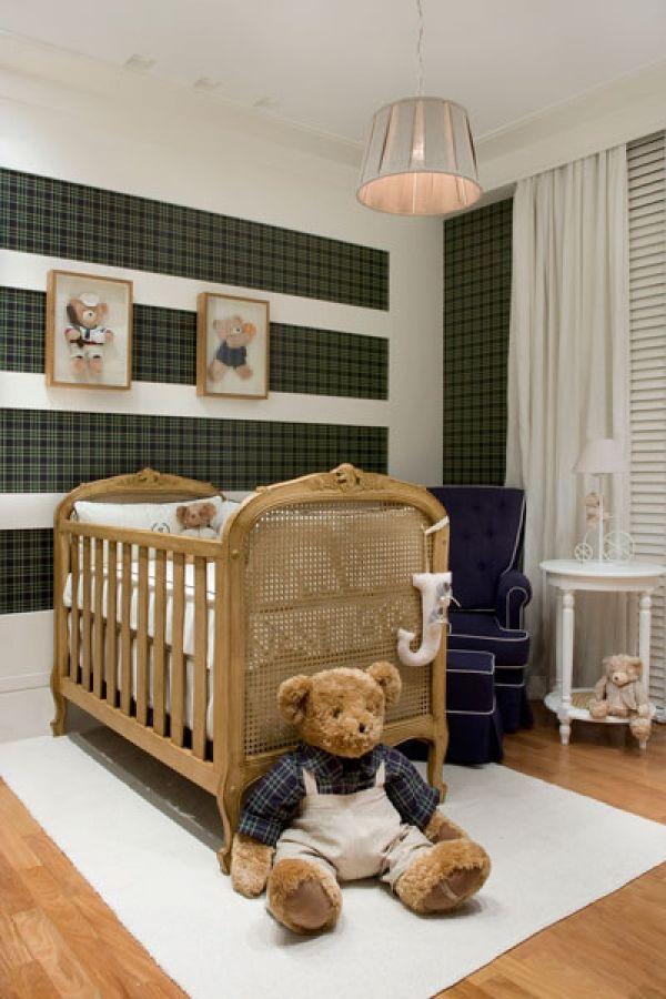 Junge Erwachsene Schlafzimmer · Kinderzimmer Ideen · Babys · Menino, Urso  Xadrex, Clássico