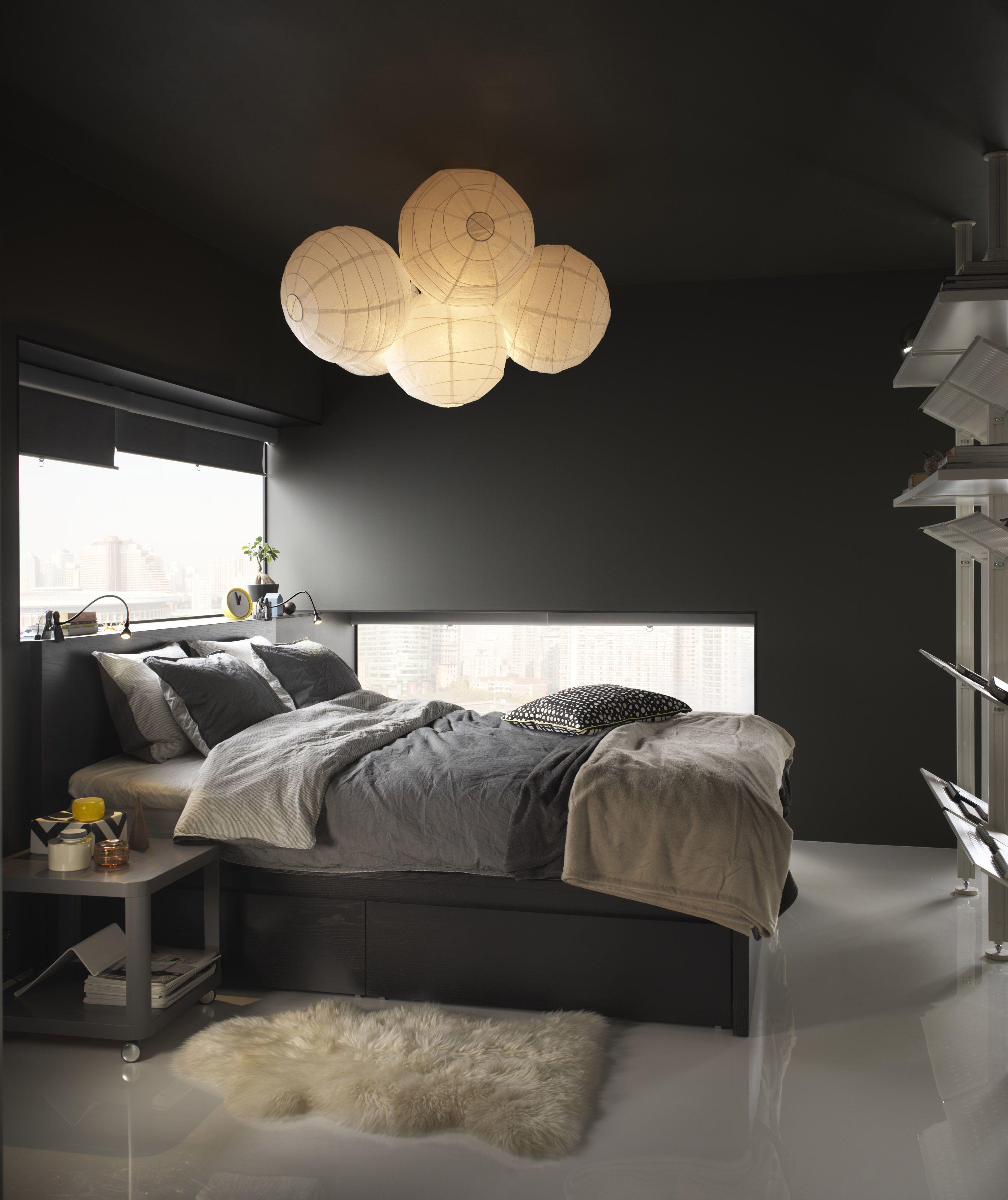 Wandmeubel Zwart Bruin.Malm Bedframe Hoog Met 4 Bedlades Zwartbruin Zzzzzz Home