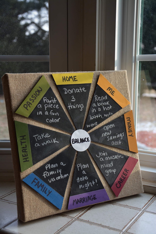 Feeling unbalanced make a diy wheel of life with