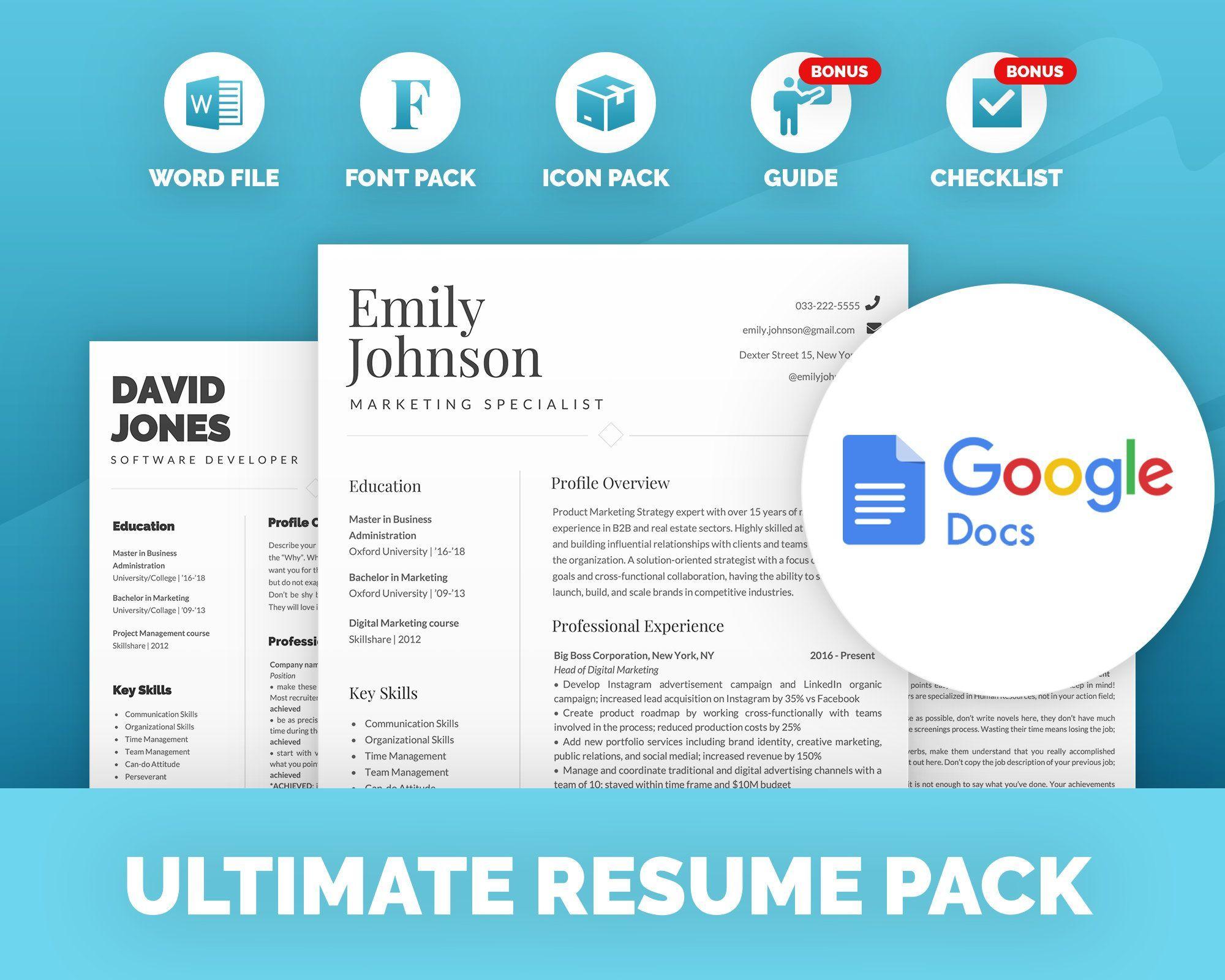 Modern Resume Google Docs Resume Template Resume Template Word Professional Resume Creati In 2020 Resume Template Word Resume Template Creative Resume Templates