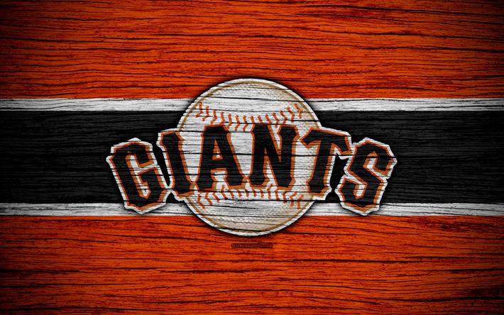 best service 36232 b8cf3 Download wallpapers San Francisco Giants, 4k, MLB, baseball, USA, Major  League Baseball, wooden texture, art, baseball club