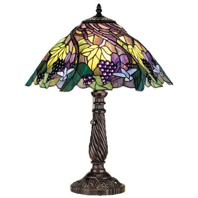 Floral Animals Spiral Grape 22 Table Lamp Tiffany Lamps Tiffany Style Lamp Stained Glass Lamps