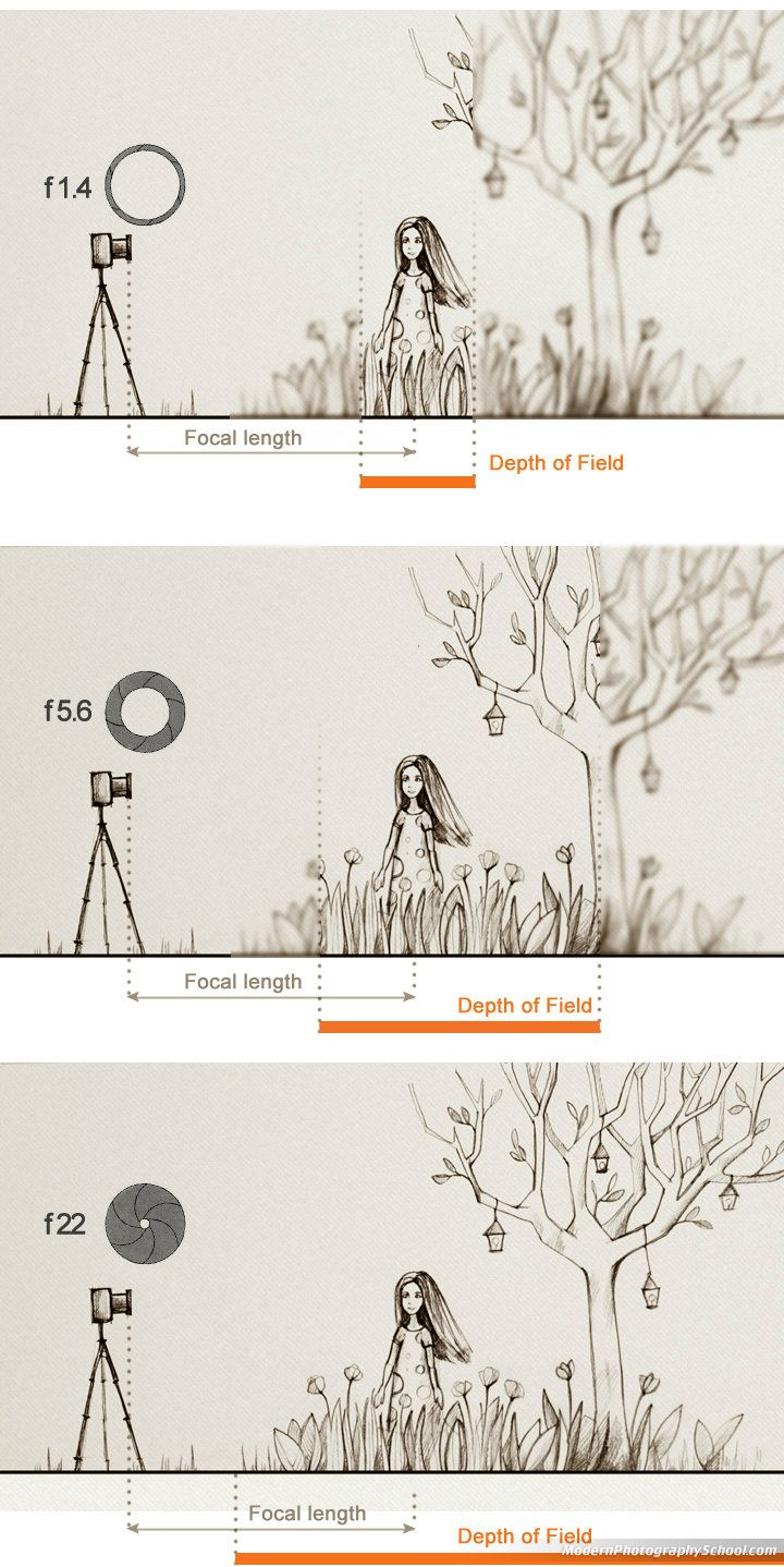 focal length depth of field relationship goals