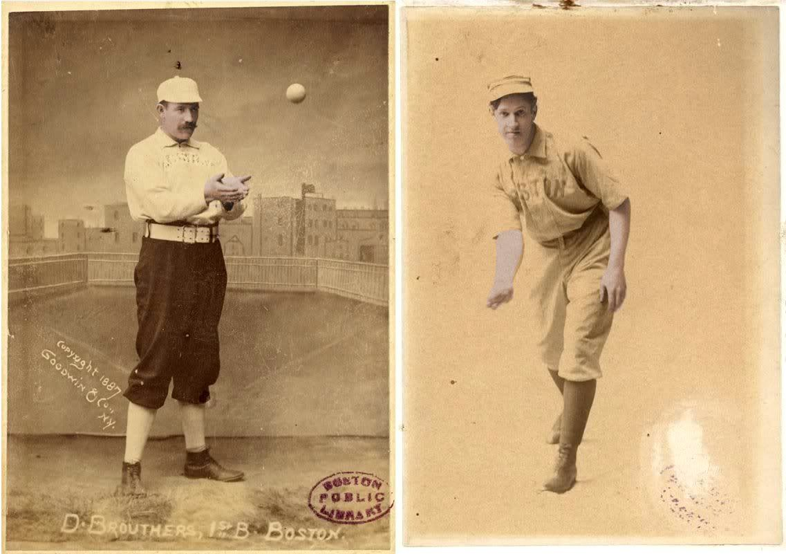 Dan Brouthers,Boston 1890-91//Kid Nichols, Boston 1890-91