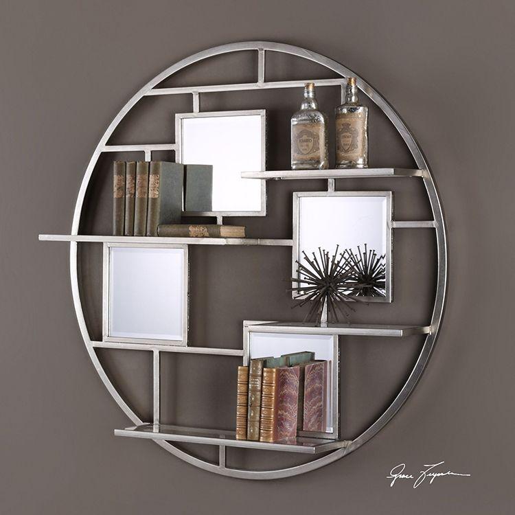 Uttermost Alternative Wall Decor Zaria Mirrored Round Wall Shelf