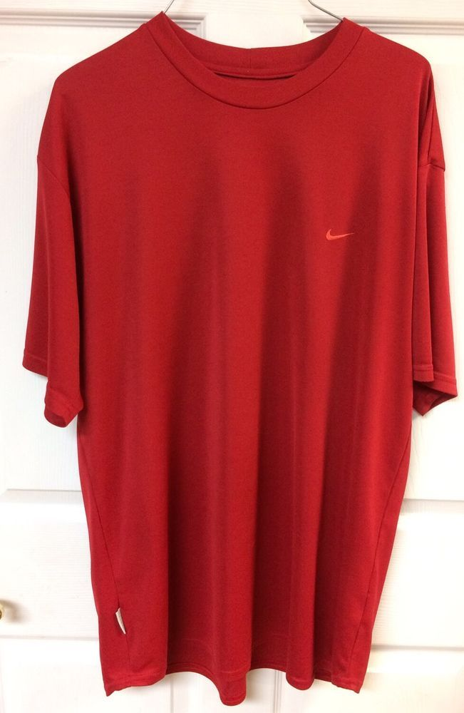 Nike Dri-Fit Men's Red Short Sleeve T-Shirt Athletic Size XL X-Large Workout EUC #Nike #ShirtsTops