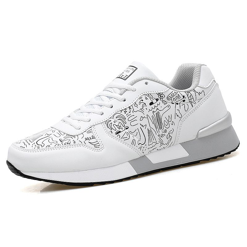 Casual Women White Lace Up Sneakers High Top Sport Running Walking Shoes Hot Sal