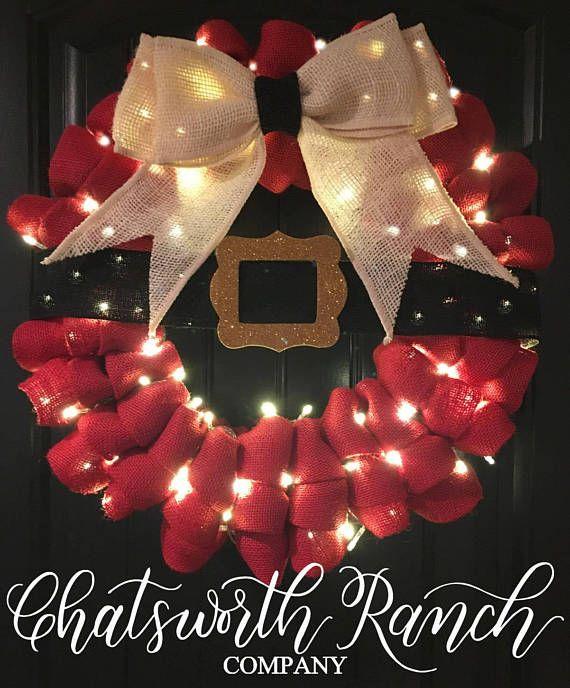Ho\u2026Ho\u2026Ho\u2026\u2026this Santas Belt Buckle Wreath is absolutely perfect