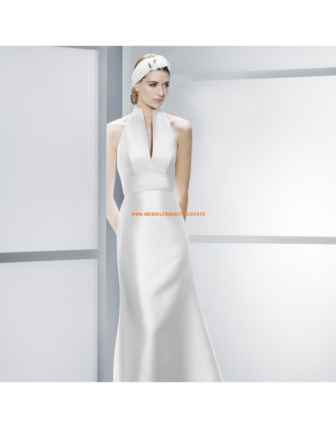 Sexy kolumne rückenfrei ärmellose Brautkleider aus Satin - Jesús ...