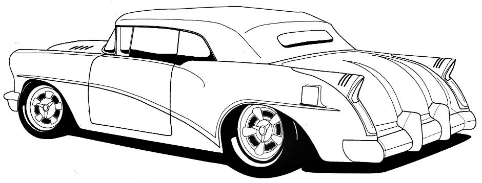 Line Drawing of old cars | Hot Rods Sacramento|Classic Cars|Muscle ...