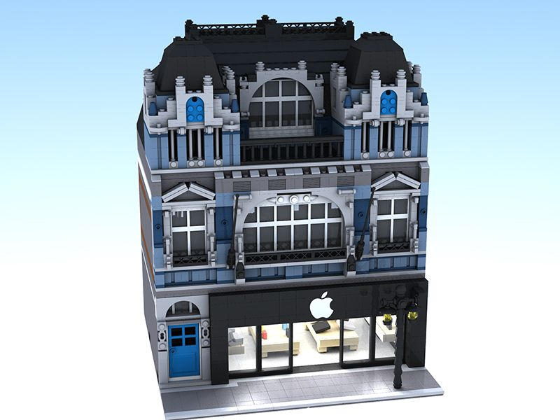 Modular Apple Reseller With Apartment by 2013-lego on Brickshelf ...