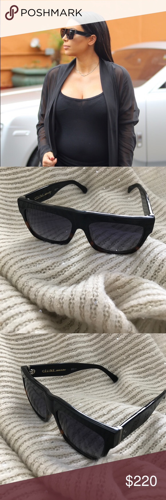 28a7f62d0302d Celine ZZ-Top Sunglasses Black Tortoise CL41066 S As seen on many  celebrities including