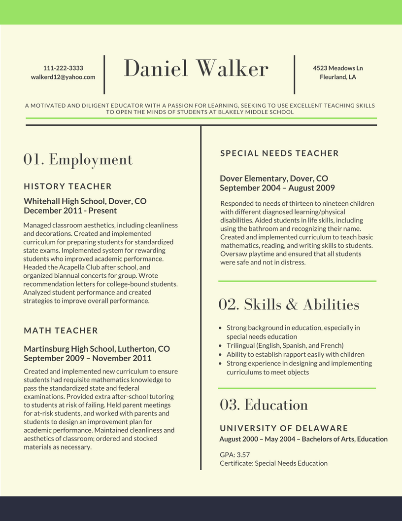 Resume Examples Skills Mesmerizing Resume In 2018   Yahoo Image Search Results  Adventure Inspiration Design