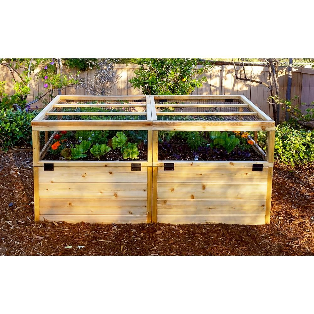Outdoor Living Today 6 Ft X 3 Ft Garden In A Box With Trellis Lid Rb63to Outdoor Living Raised Garden Beds Raised Garden