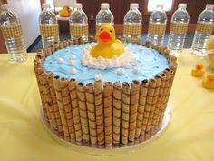 Duck in a Tub Cake, you can take the duck out and make a cake for a pool party