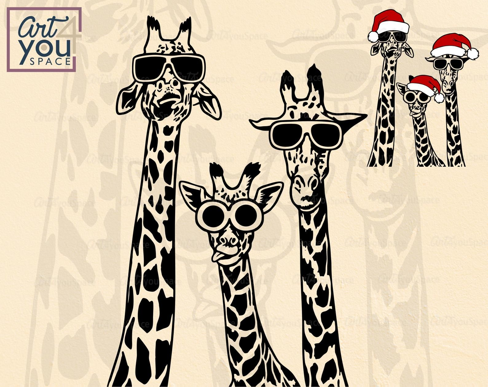 Giraffe Svg Funny Giraffes With Glasses African Safari Etsy In 2021 Funny Giraffe Giraffe African Safari