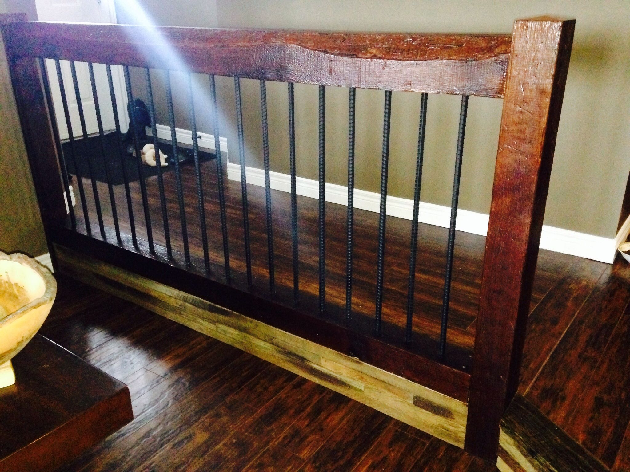 Best My Custom Railing Barn Boards And Rebar Cost Only 90 Diy 400 x 300