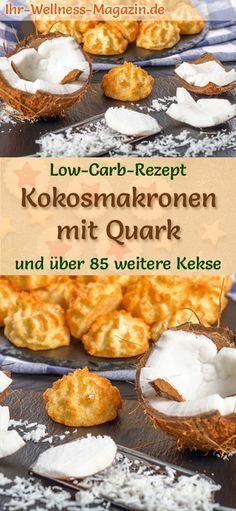 Low Carb Kokosmakronen mit Quark - einfaches Plätzchen-Rezept für Weihnachtskekse