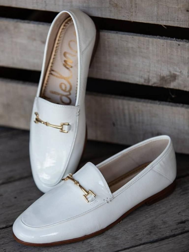 3693606d344b19 Sam Edelman - Loraine Bit Loafer - White Crinkle Patent in 2019