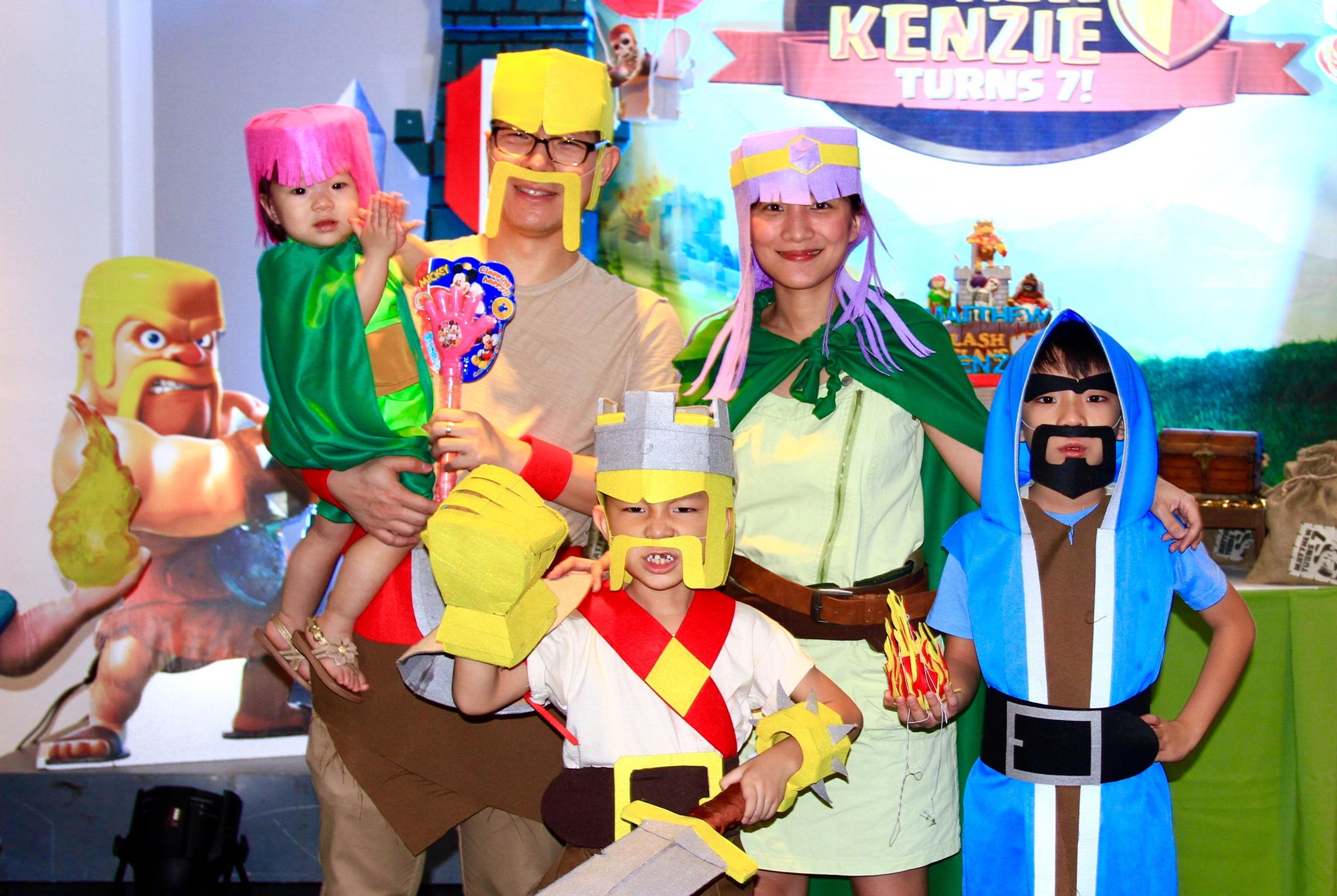 Clash of Clans Party Ideas- diy costumes, family costume, clash of ...