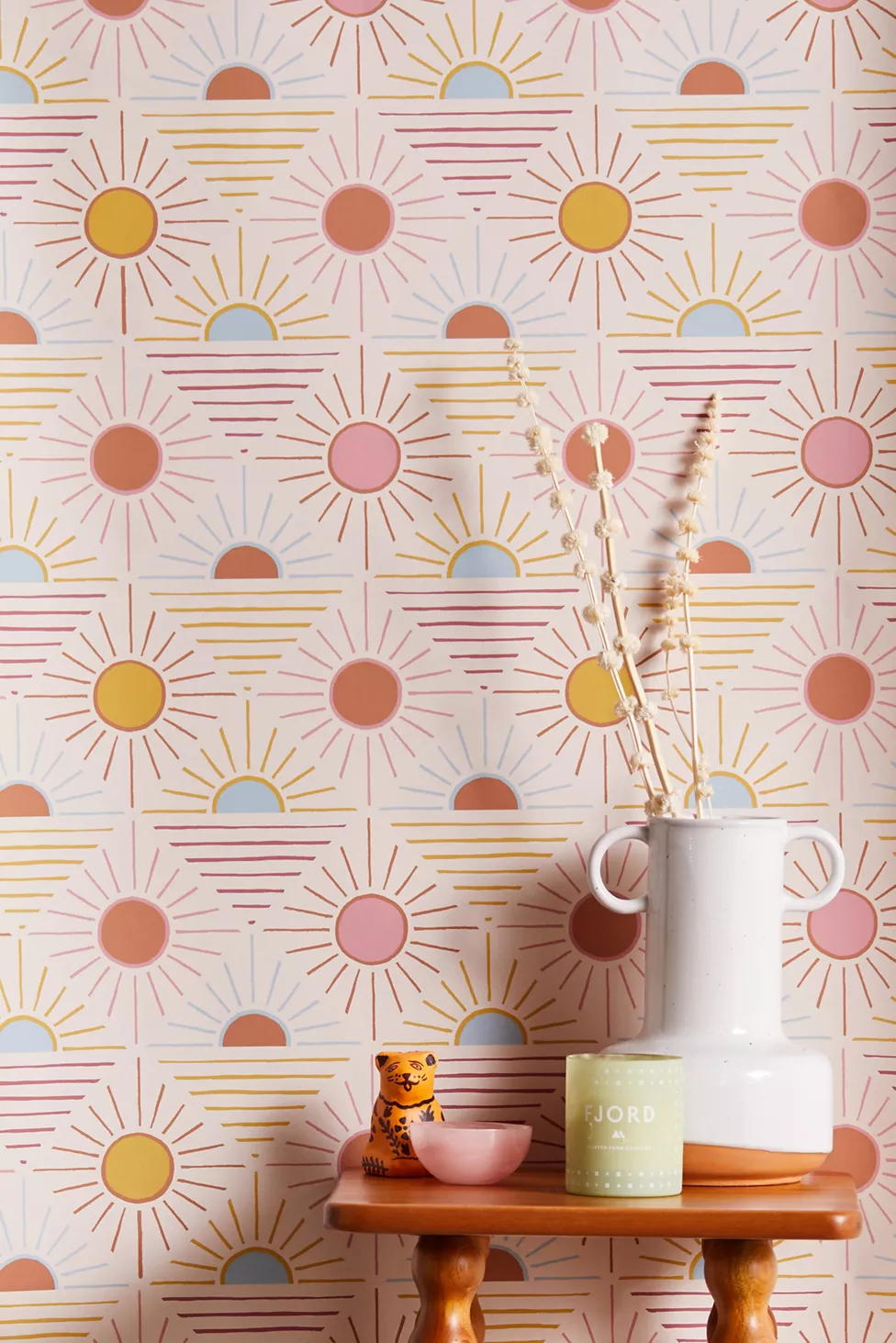 Geo Sun Removable Wallpaper Stick On Wallpaper Removable Wallpaper Shop Wallpaper