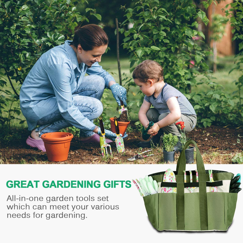 Loylov Garden Tool Set Floral Print 9 Piece Aluminum Gardening Tools With 2 Gardening Gloves You Can Get Addit In 2020 Garden Tool Set Gardening Gloves Garden Gifts