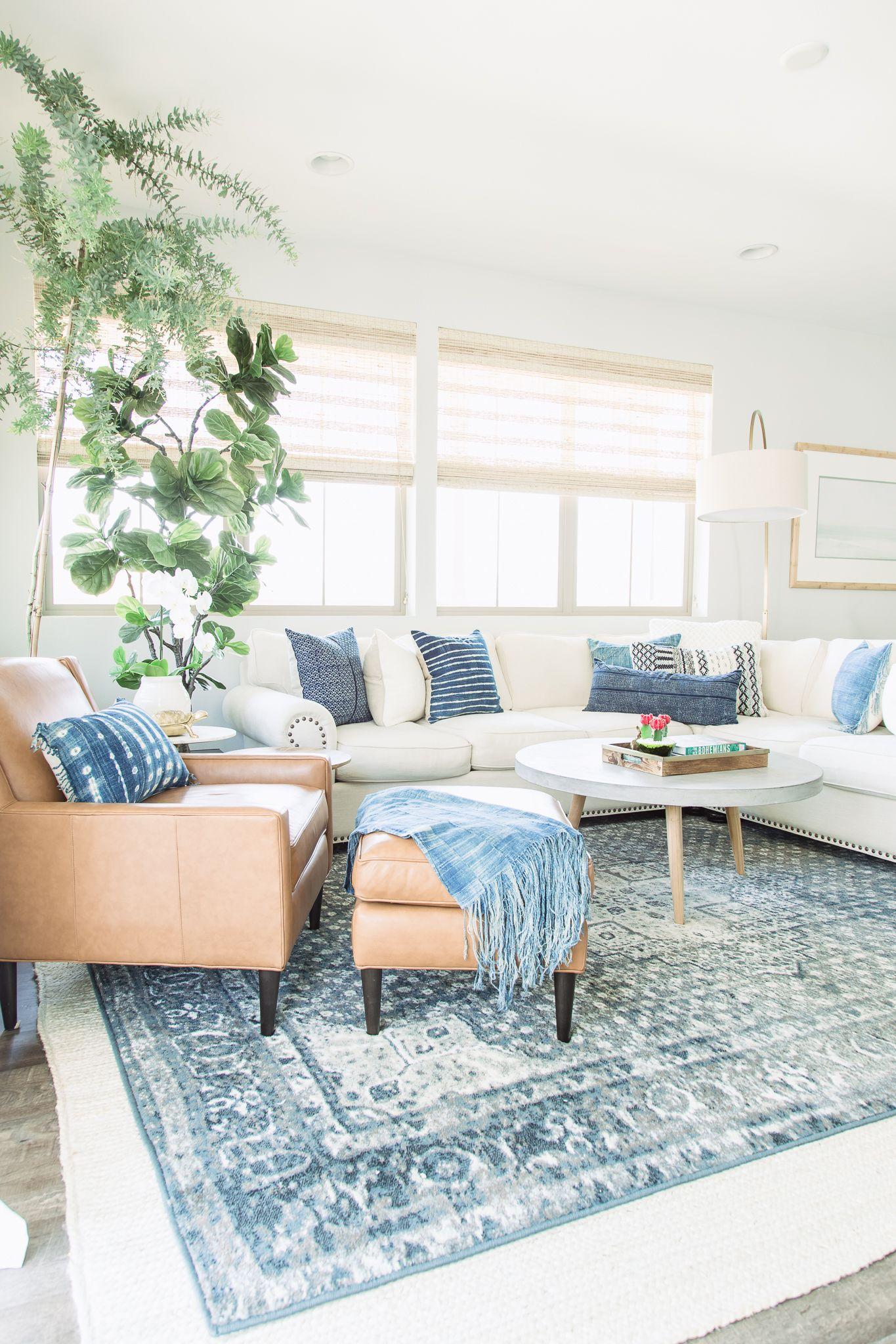 PURE SALT INTERIORS // MARISOL PROJECT // LIVING ROOM - antique rug ...