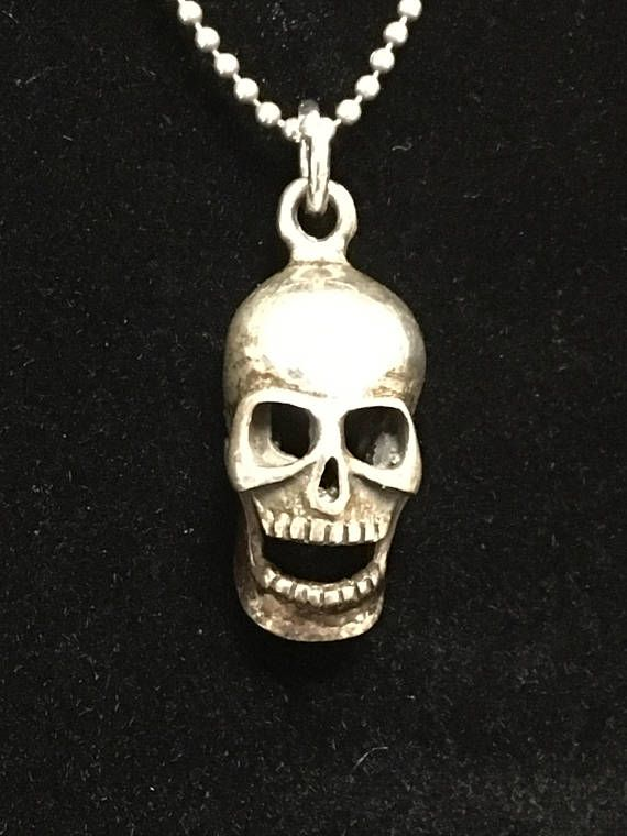 Antique memento mori sterling silver skull pendant charm with antique memento mori sterling silver skull pendant charm with mozeypictures Image collections