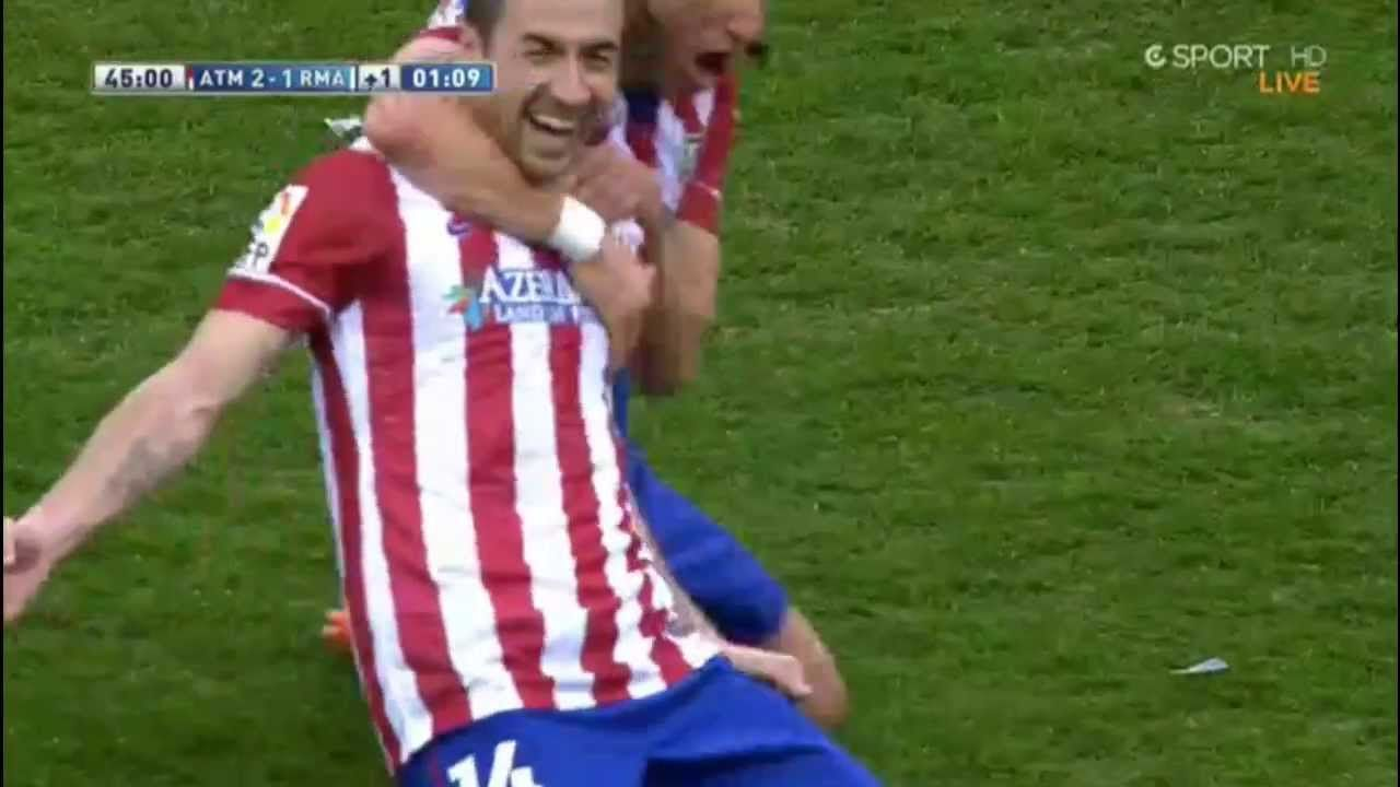 Gabi Fernandez Fantastic Goal - Altetico Madrid vs Real Madrid