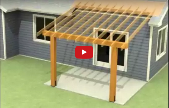 Watch Videos On How To Attach A Patio Roof To An Existing House Attach Roof Over Deck From House Or How To Add A Porch Patio Roof Outdoor Pergola Porch Roof