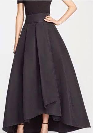 7fb5914a4 Resultado de imagen para faldas largas elegantes | moldes en 2019 ...