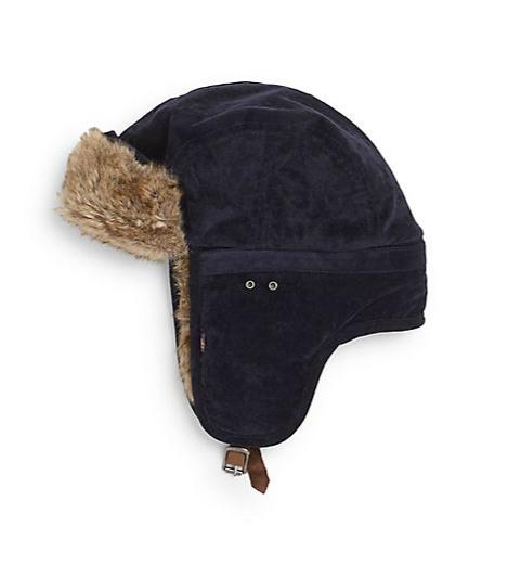 59c50f7ab Original Penguin | Jimmy Van Faux Fur-Trimmed Trapper Hat | SAKS OFF ...