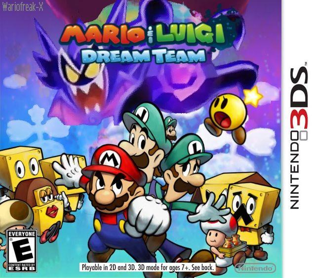 Mario And Luigi Dream Team Custom Boxart By Wariofreak X