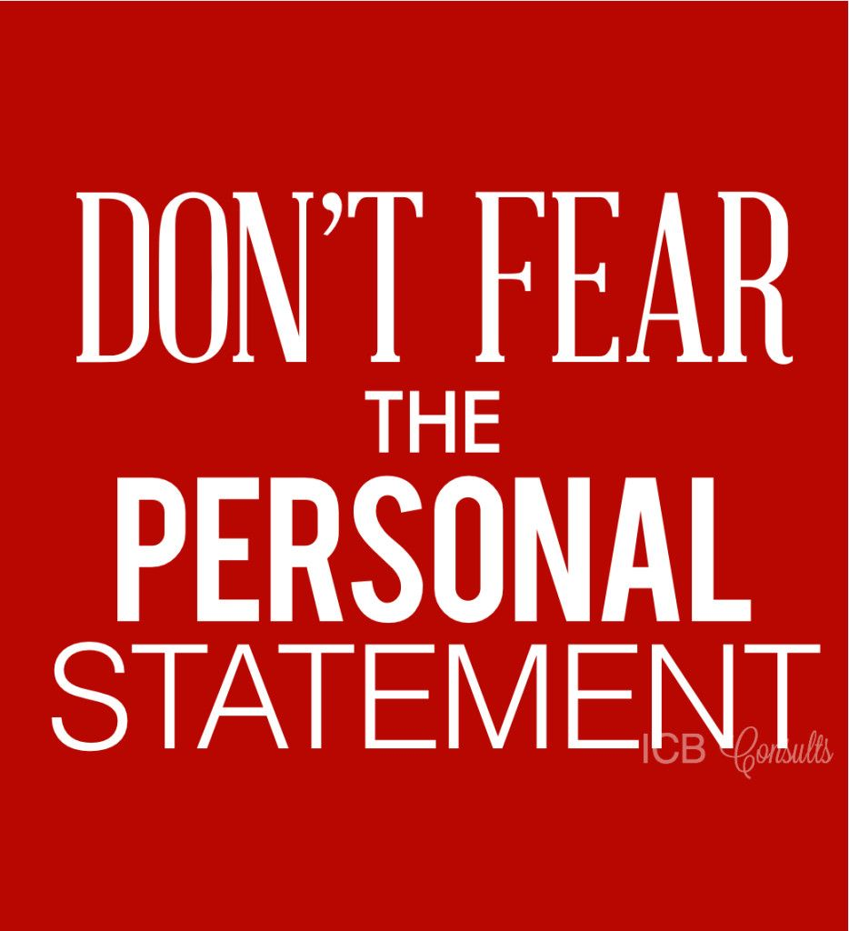 DonT Fear The Personal Statement  School College Admission And