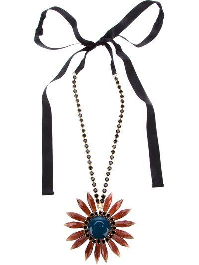 Marni ribbon pendant necklace - Blue PyWRL