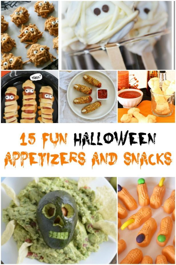 15 Fun and Spooky Halloween Appetizers and Snacks Spooky halloween - spooky halloween food ideas