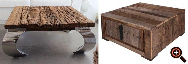 designer wohnzimmer holz, designer tisch – couchtisch fürs wohnzimmer – holz, glas & metall, Design ideen