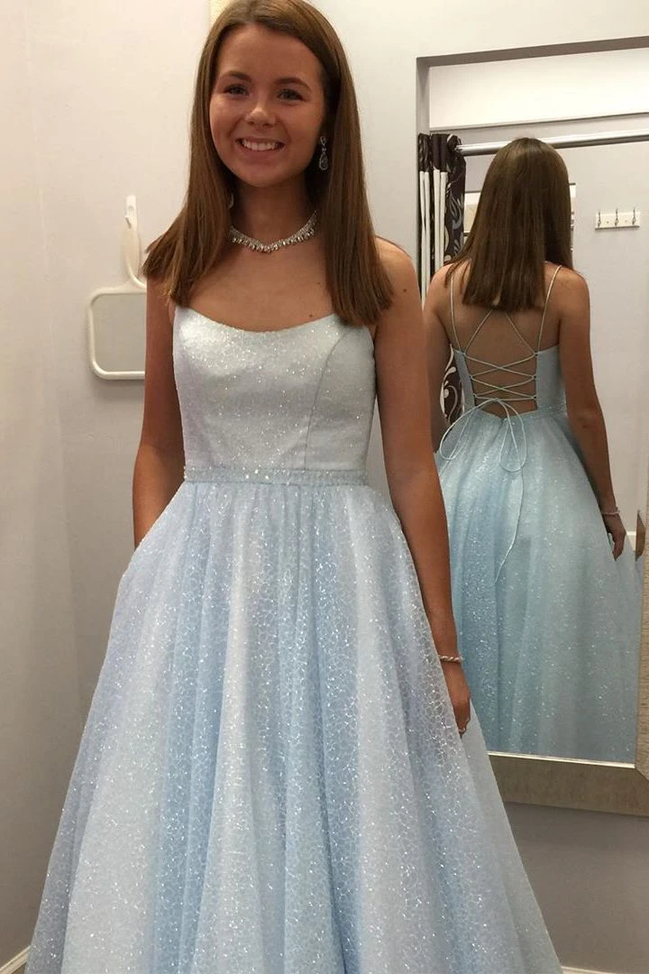 2020 Sparkly Long Prom Dresses 8th Graduation Dress School