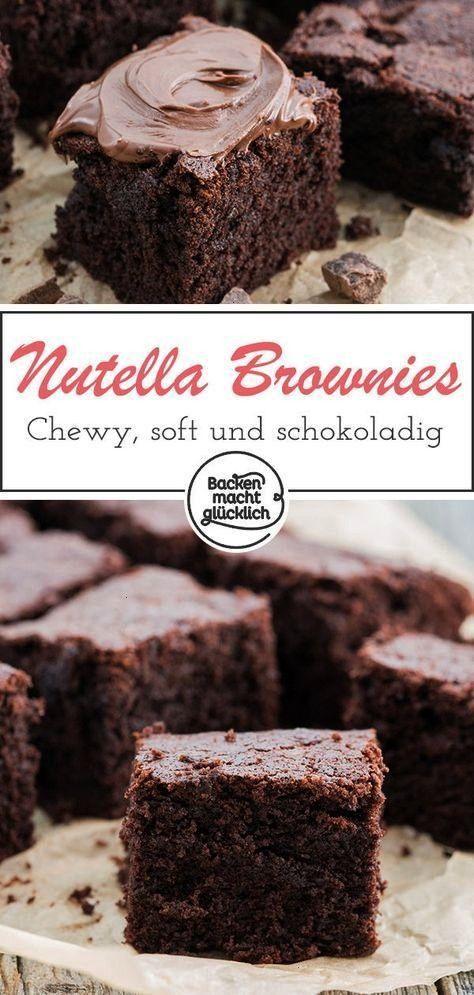 soft und unglaublich kstlich: Diese einfachen Nutella-Brownies sind das perfekte Gebck fr alle Scho