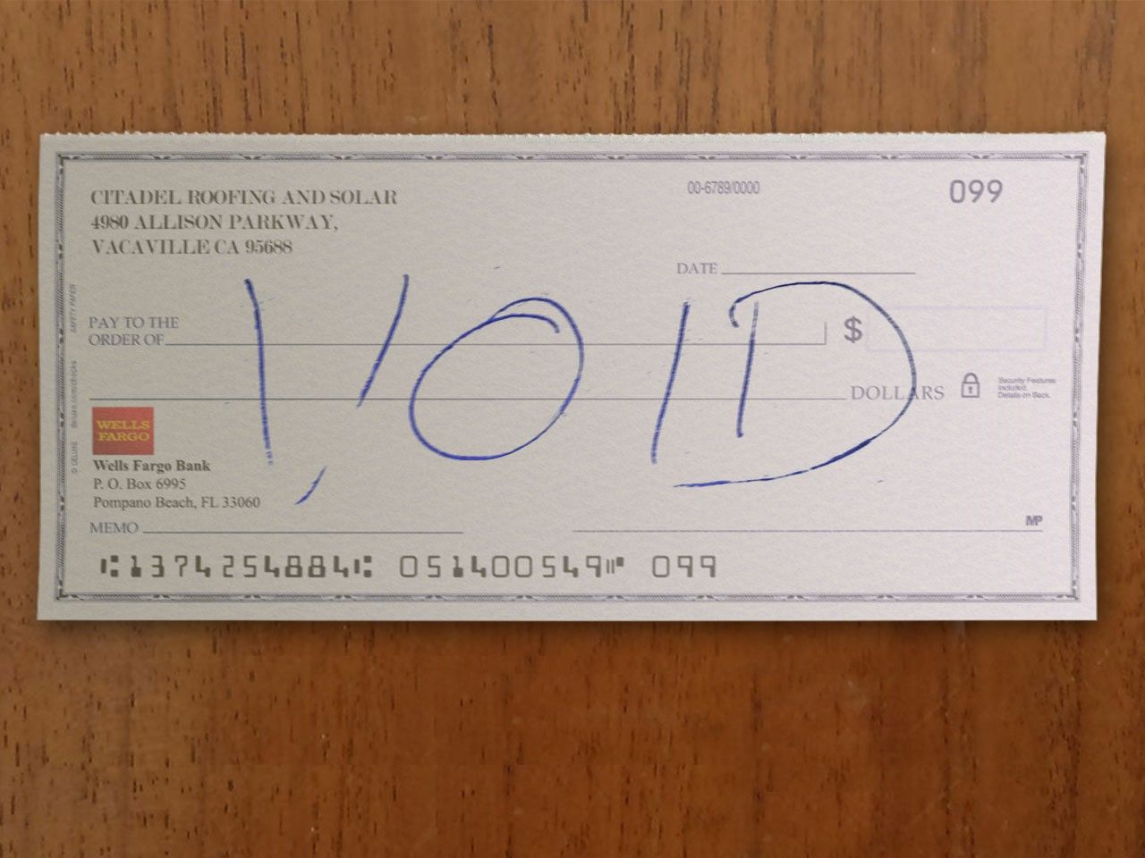 Check Voided Doctors Note Bill Template Bank Statement